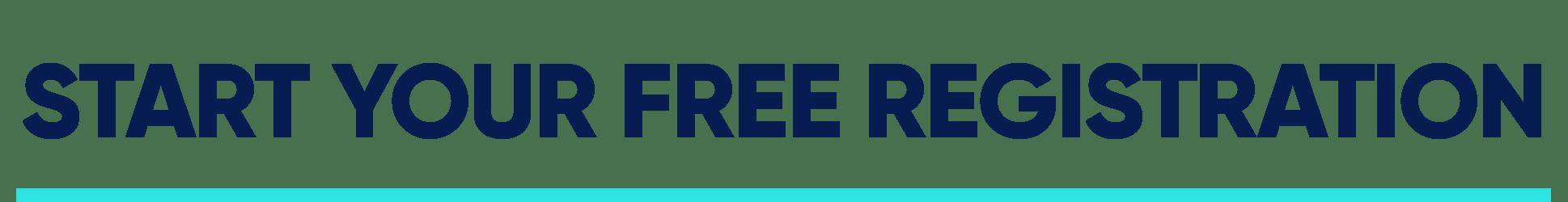 Start your free registration