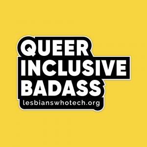 queer inclusive badass block font sticker
