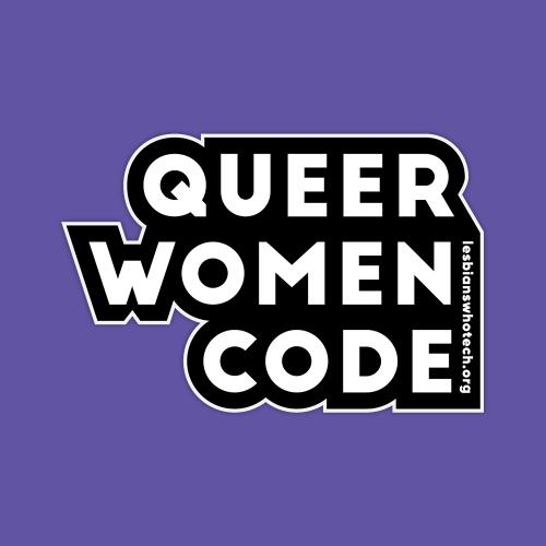 queer women code sticker