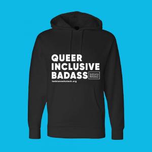 black queer inclusive badass hoodie