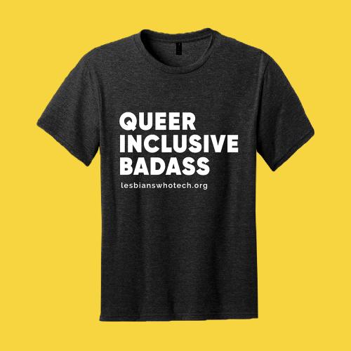 black queer inclusive badass tshirt