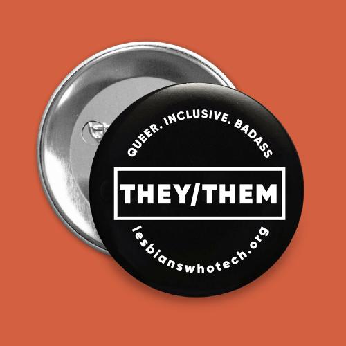 black they/them pronoun pin